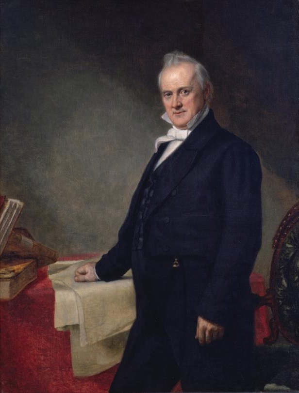 Slide 16 of 44: Portrait of James Buchanan by George P.A. Healy.