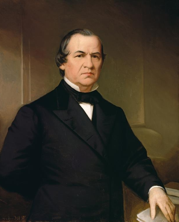 Slide 18 of 44: Washington Bogart Cooper (American, 1802–1888), Portrait of Andrew Johnson, after 1866, oil on canvas, 91.8 x 74.3 cm (36.1 x 29.3 in), National Portrait Gallery in Washington.