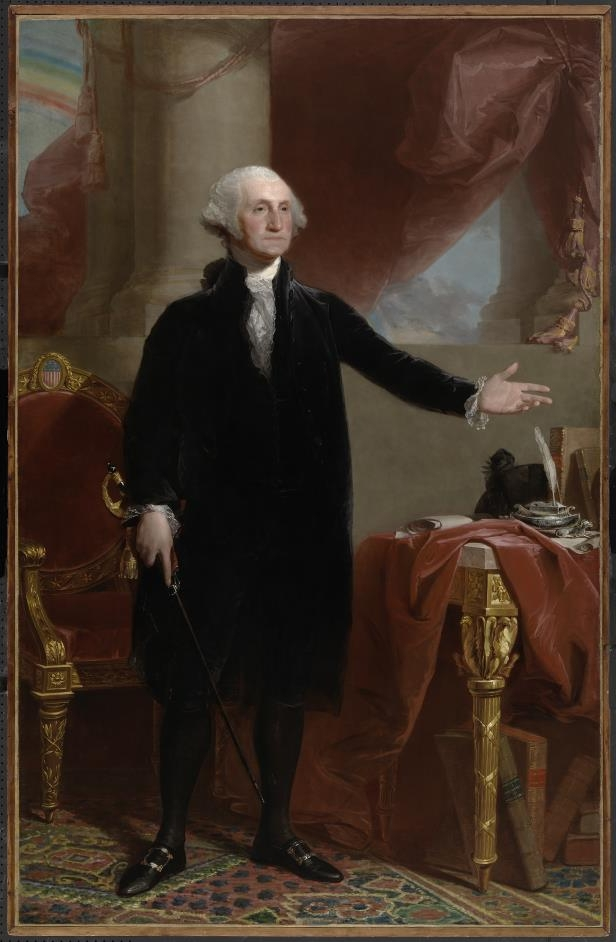 Slide 2 of 44: George Washington by Gilbert Stuart (1796).