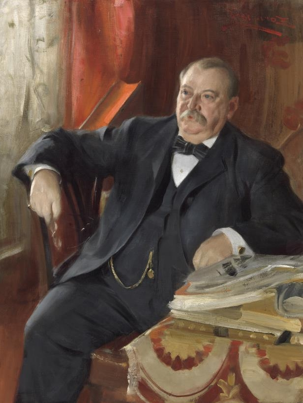 Slide 23 of 44: Grover Cleveland by Anders Leonard Zorn.