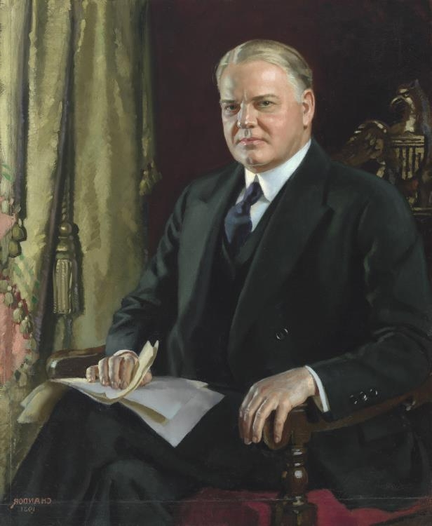 Slide 31 of 44: Herbert Hoover by Douglas Granville Chandor.