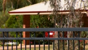 a close up of a fence: Police hunting man who bashed elderly couple