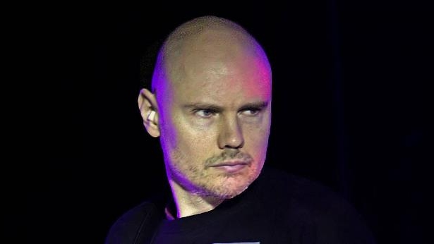a close up of Billy Corgan
