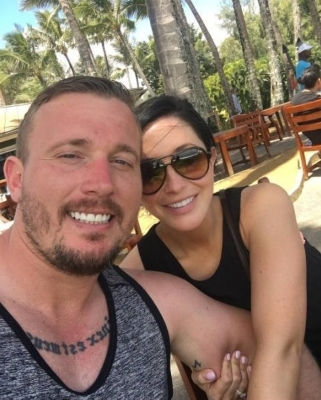 a group of people posing for the camera: Bristol Palin and Dakota Meyer are seen after secretly getting married on June 7, 2016.