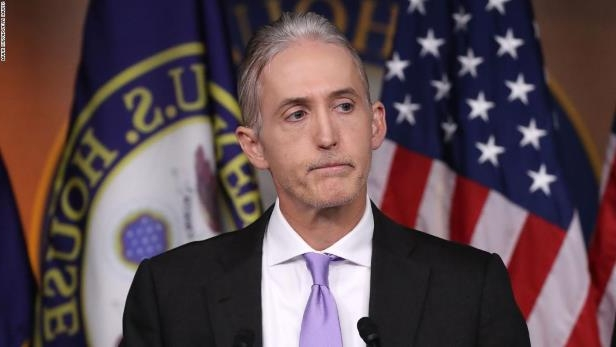 Trey Gowdy wearing a suit and tie