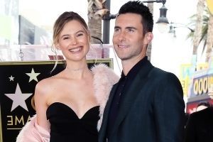 Adam Levine Posts Valentine's Photo of Behati Prinsloo Showing Off Baby Bump