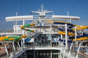 The World's Largest Cruise Ship Has 20 Restaurants, a 10-story Slide, and a Robotic Bar