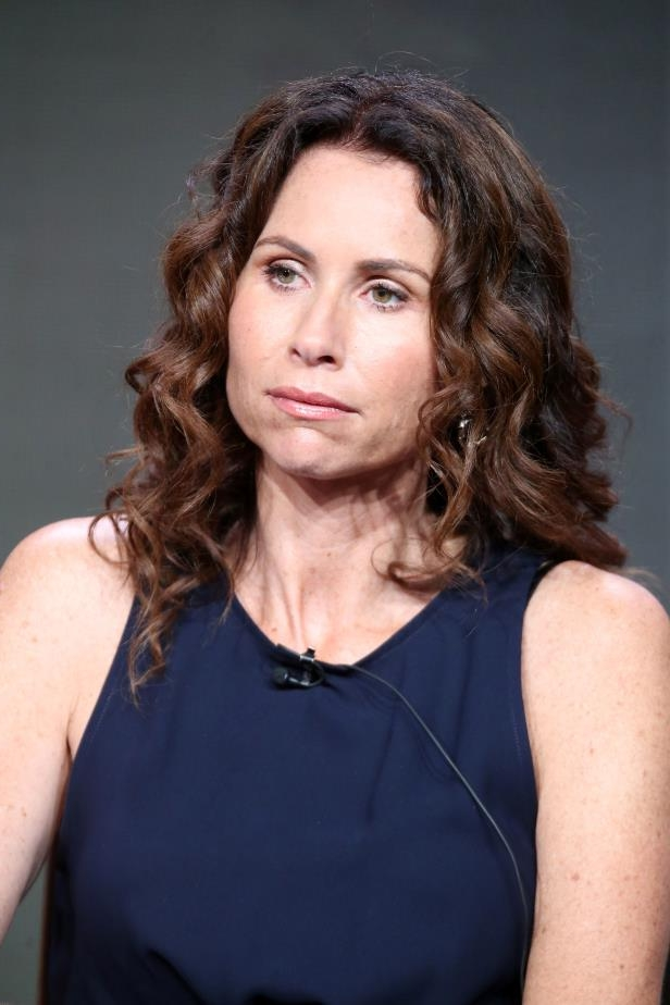 MINNIE DRIVER wearing a black shirt: Minnie Driver.