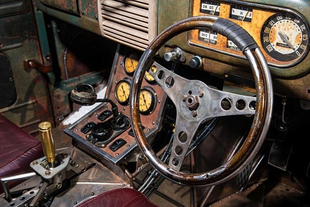 Slide 27 of 39: 1949-ford-f3-pickup-steering-wheel.jpg