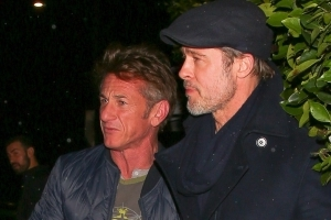 Brad Pitt Spotted at Dinner With Sean Penn and Bradley Cooper in Los Angeles