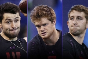 Opinion: Josh Rosen, Baker Mayfield competing at NFL Combine not good look — for Sam Darnold