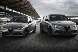 Alfa Romeo Giulia and Stelvio Quadrifoglio NRING editions heading for Geneva