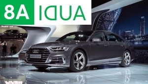 a car on display: 2017 LA Auto Show: 2019 Audi A8