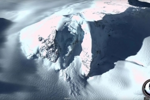 Conspiracy theorists claim a UFO crash landed in Antarctica