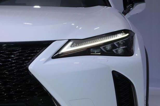 Slide 11 of 56: 2019-Lexus-UX-headlight.jpg