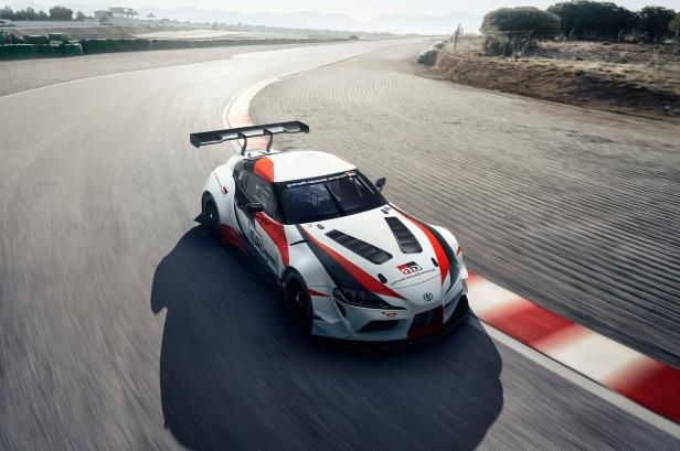 Slide 15 of 52: Toyota-GR-Supra-Racing-Concept-top-front-three-quarter-in-motion.jpg