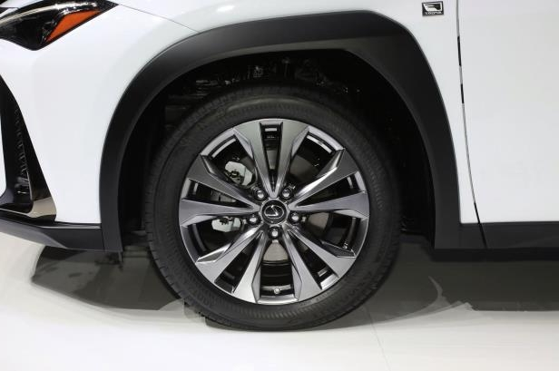 Slide 2 of 56: 2019-Lexus-UX-F-Sport-wheel.jpg