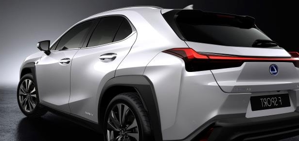Slide 21 of 56: 2019-Lexus-UX-250h-rear-side.jpg