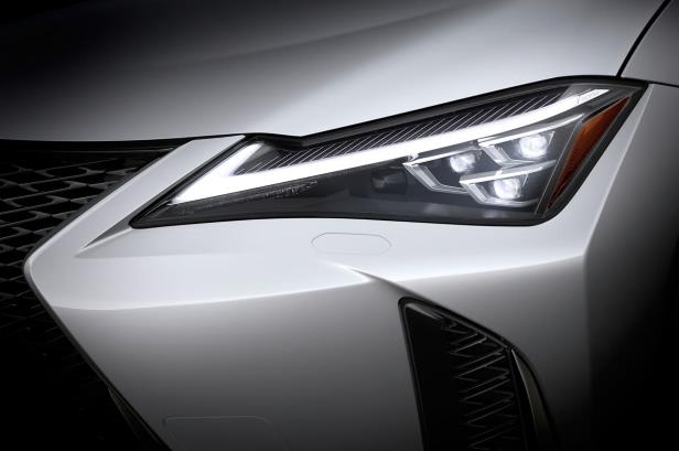 Slide 25 of 56: 2019-Lexus-UX-250h-headlight.jpg