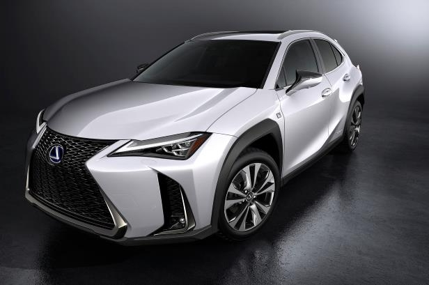 Slide 27 of 56: 2019-Lexus-UX-250h-front-three-quarter-05.jpg
