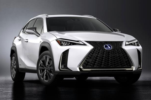 Slide 28 of 56: 2019-Lexus-UX-250h-front-three-quarter-04.jpg