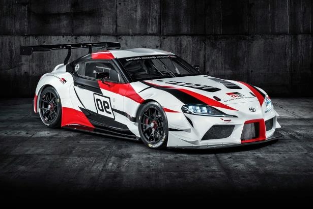 Slide 43 of 52: Toyota GR Supra Racing Concept front three quarter 02