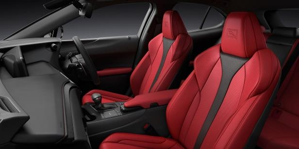 Slide 50 of 56: 2019-Lexus-UX-200-front-interior-seats-03.jpg