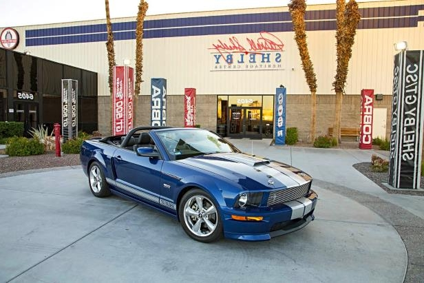 Slide 1 of 10: 01-2008-Ford-Shelby-GT-Convertible-Prototype-Front-Three-Quarter