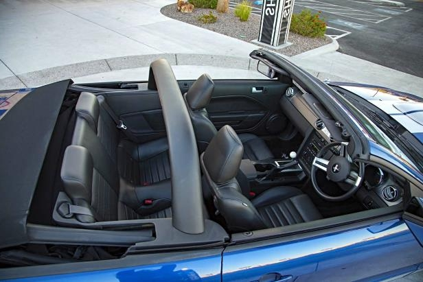 Slide 5 of 10: 10-2008-Ford-Shelby-GT-Convertible-Prototype-Top-Down-Light-Bar.jpg
