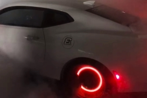 Watch This 1,000-HP Camaro ZL1 Set Its Brakes on Fire With a Righteous Burnout