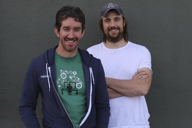 Founders of Sydney technology company Atlassian Scott Farquhar and Mike Cannon-Brookes.