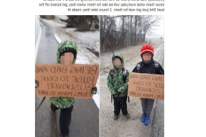 This mom made her sons walk 7km to school and we have questions