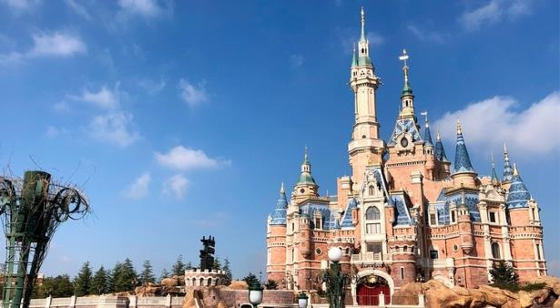 Enchanted Storybook Castle at Shanghai Disneyland in China: PHOTO: Enchanted Storybook Castle at Shanghai Disneyland in China. (photo by Jason Leppert)
