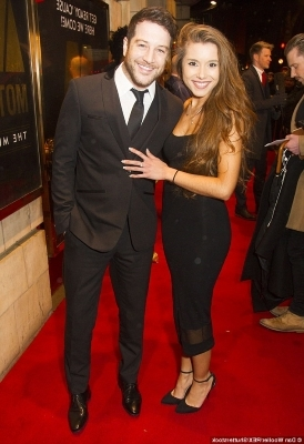 Matt Cardle holding a pair of people posing for the camera: So happy: The singer eventually got clean after checking into residential rehabilitation facility The Priory, and he credits new girlfriend Amber Hernaman for helping him stay clean
