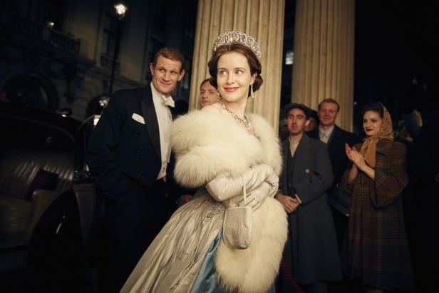"Matt Smith et al. posing for the camera: Netflix paid Claire Foy less than co-star Matt Smith for her work on ""The Crown."" She played Queen Elizabeth II, the lead role, while he played her husband, Philip Mountbatten, Duke of Edinburgh. (Robert Viglasky/Netflix)"