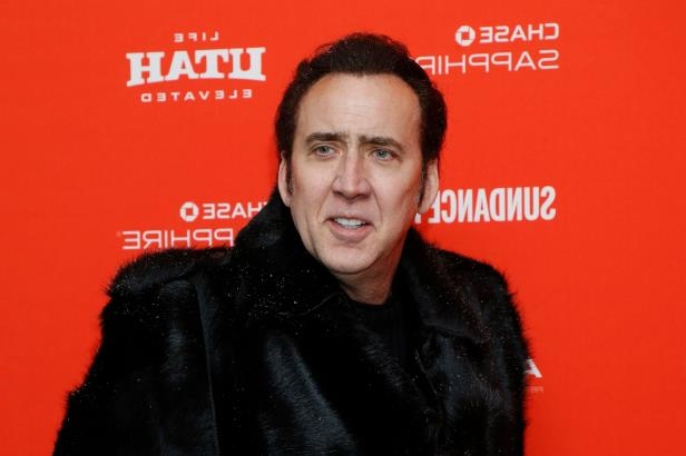Nicolas Cage smiling for the camera: Superman fan Nicolas Cage is voicing the Man of Steel in the upcoming 'Teen Titans GO! To the Movies.'
