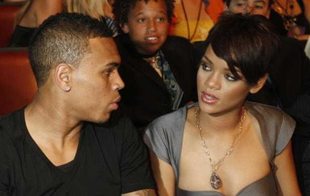 Rihanna and Chris Brown are seen at the MTV Movie Awards on Sunday June 1, 2008 in Los Angeles.