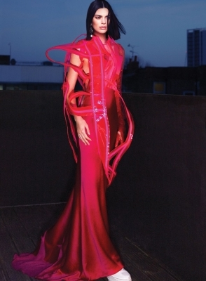 a person in a red dress: Kendall Jenner Vogue