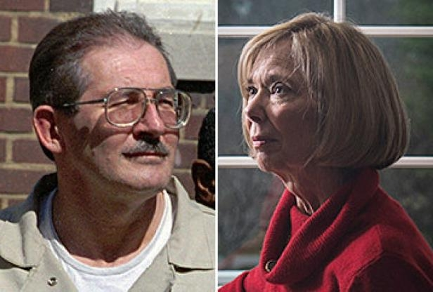 Aldrich Ames et al. looking at the camera: Sandy Grimes, left, who helped lead the hunt for Aldrich Ames, right.
