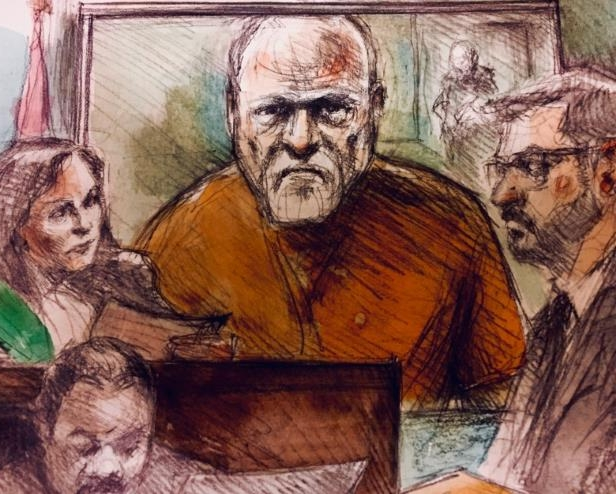 Alleged serial killer Bruce McArthur appears in court via video on Wednesday, Feb. 28.