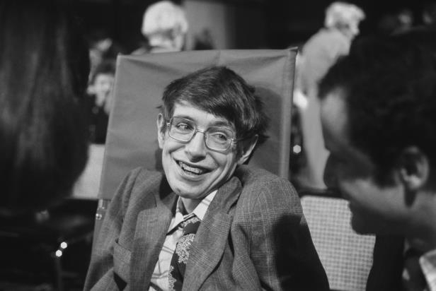 Slide 2 of 24: PRINCETON, NJ - OCTOBER 10: Cosmologist Stephen Hawking on October 10, 1979 in Princeton, New Jersey. (Photo by Santi Visalli/Getty Images)