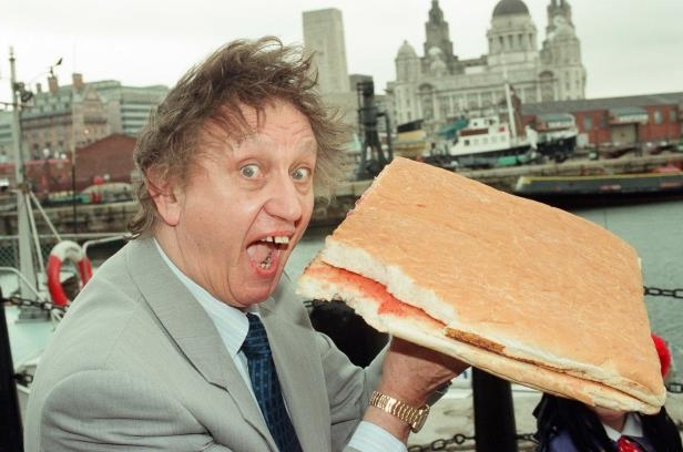 Slide 2 of 59: Ken Dodd at the Maritime Museum, July 3, 1996.