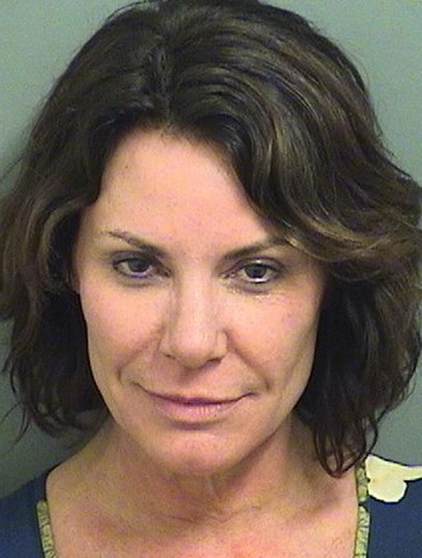 "Slide 3 of 103: This Sunday, Dec. 24, 2017 photo provided by the Palm Beach County Sheriff's Office shows Luann de Lesseps, a star of the reality television series ""The Real Housewives of New York City"". De Lesseps was booked into jail early Sunday on charges of battery on a law enforcement officer, resisting arrest with violence, disorderly intoxication and corruption by threat. (Palm Beach County Sheriff's Office via AP)"