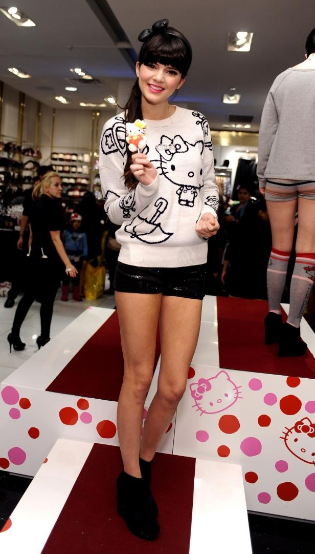 Slide 36 of 40: Kendall Jenner attends Forever 21 For Hello Kitty Collection Launch Party at Forever 21 on November 17, 2011 in Los Angeles, California.