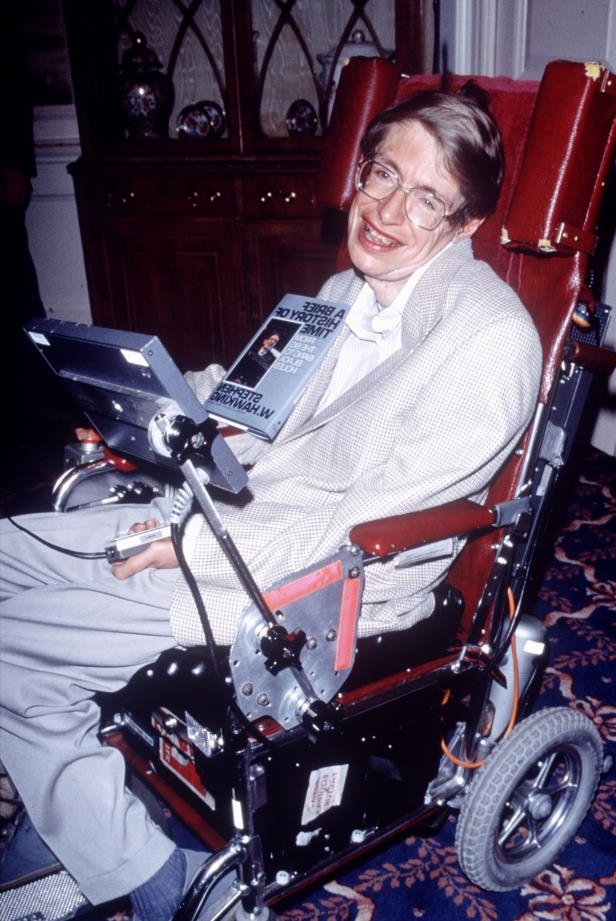 Slide 4 of 24: PROFESSOR STEPHEN HAWKING RECEIVING HIS CERTIFICATE FROM THE GUINNESS BOOK OF RECORD - 1992