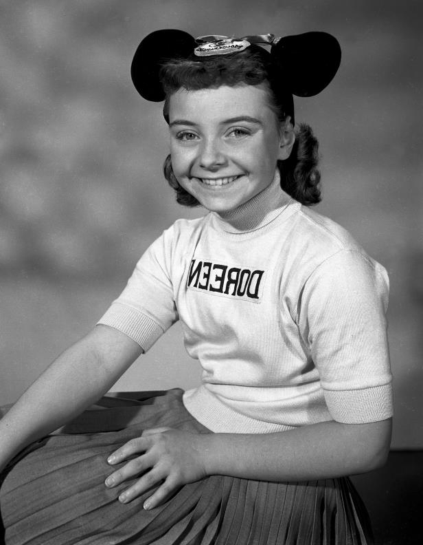 Slide 48 of 59: This undated photo released by Disney, shows Disney Mouseketeer Doreen Tracey. Tracey, a former child star who played one of the original cute-as-a-button Mouseketeers on