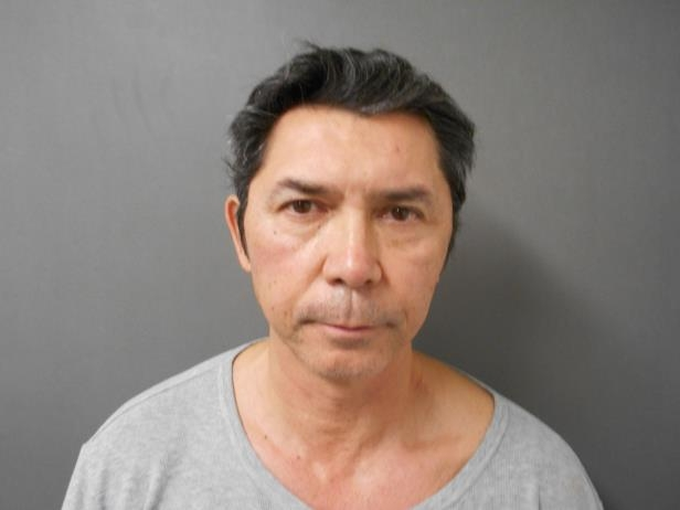 Slide 6 of 103: In this handout photo provided by the San Patricio County Sheriff's Office, Lou Diamond Phillips is seen in a police booking photo after his arrest on charges of DWI, driving while intoxicated, November 3, 2017 in Sinton, Texas. The arrest occurred after Phillips asked a Portland Police Department officer for directions and the officer suspected he was intoxicated.