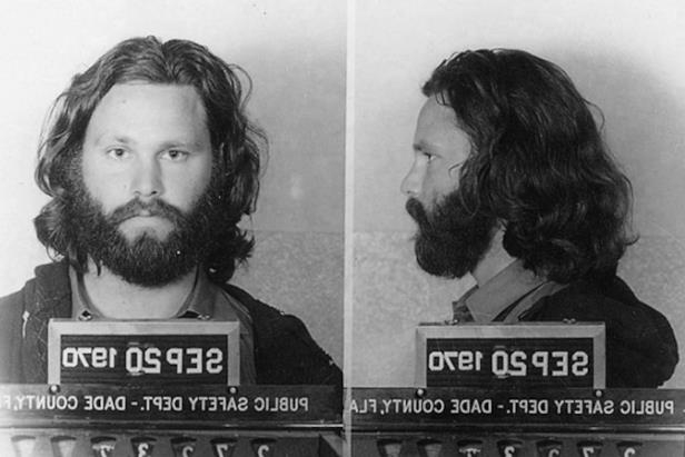Slide 91 of 103: Police mugshots Jim Morrison