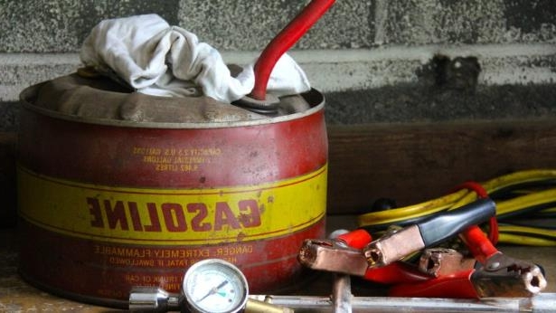 Vintage Gas Can and Car Tools