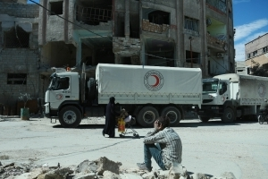 New convoy of food aid enters Syria's rebel Ghouta: ICRC